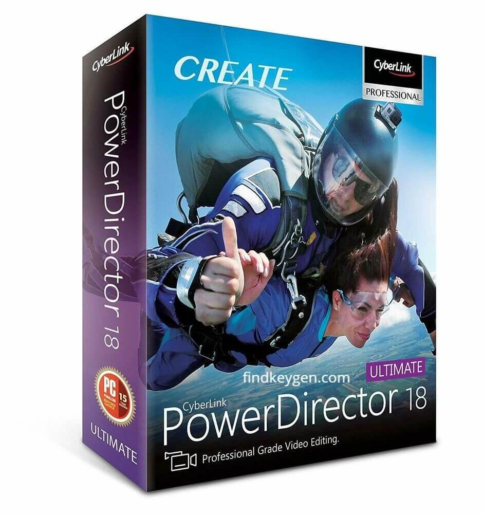 CyberLink PowerDirector Ultimate 18.0.2725.0 Activation Key With Crack Latest Version